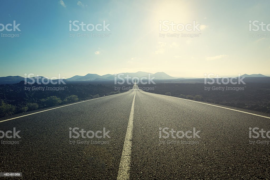 Der road - Lizenzfrei Asphalt Stock-Foto
