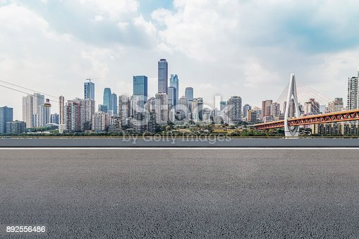 istock The road, the ground, and the beautiful skyline of Chongqing 892556486