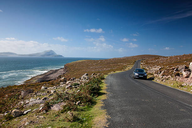 The road to Achill Mayo Ireland stock photo