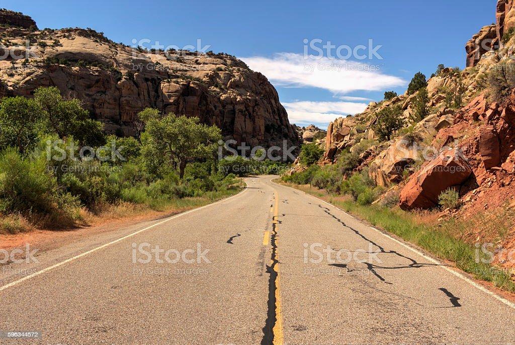 The road to Arches Lizenzfreies stock-foto