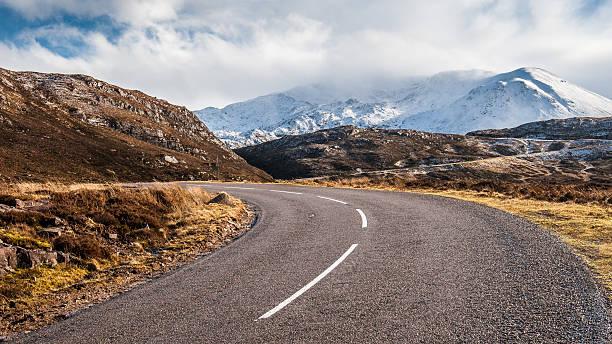 A estrada para Assynt - foto de acervo