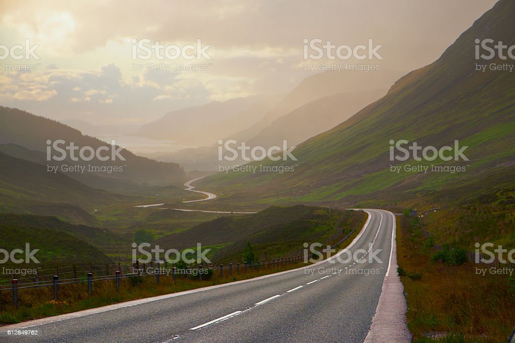 The Road To Loch Maree stock photo