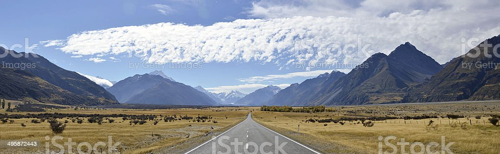 The Road To New Zealand stock photo