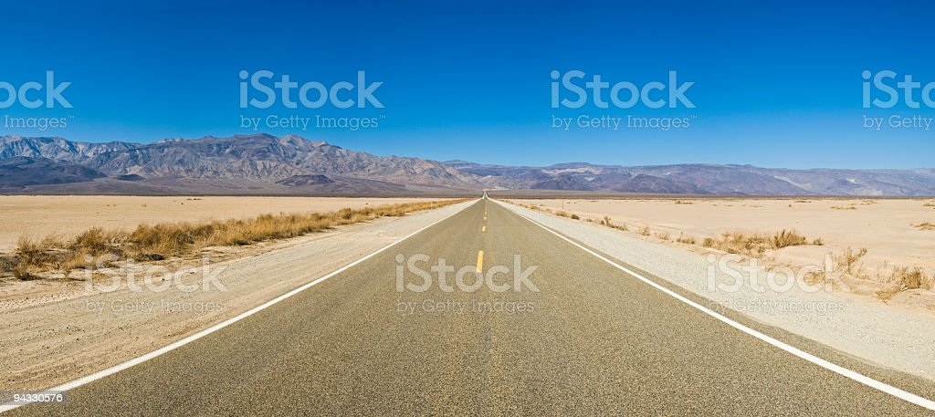 The road to stock photo