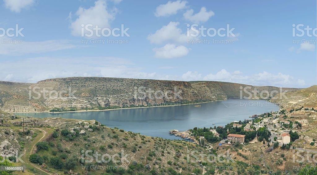The Road to Rumkale, Halfeti stock photo