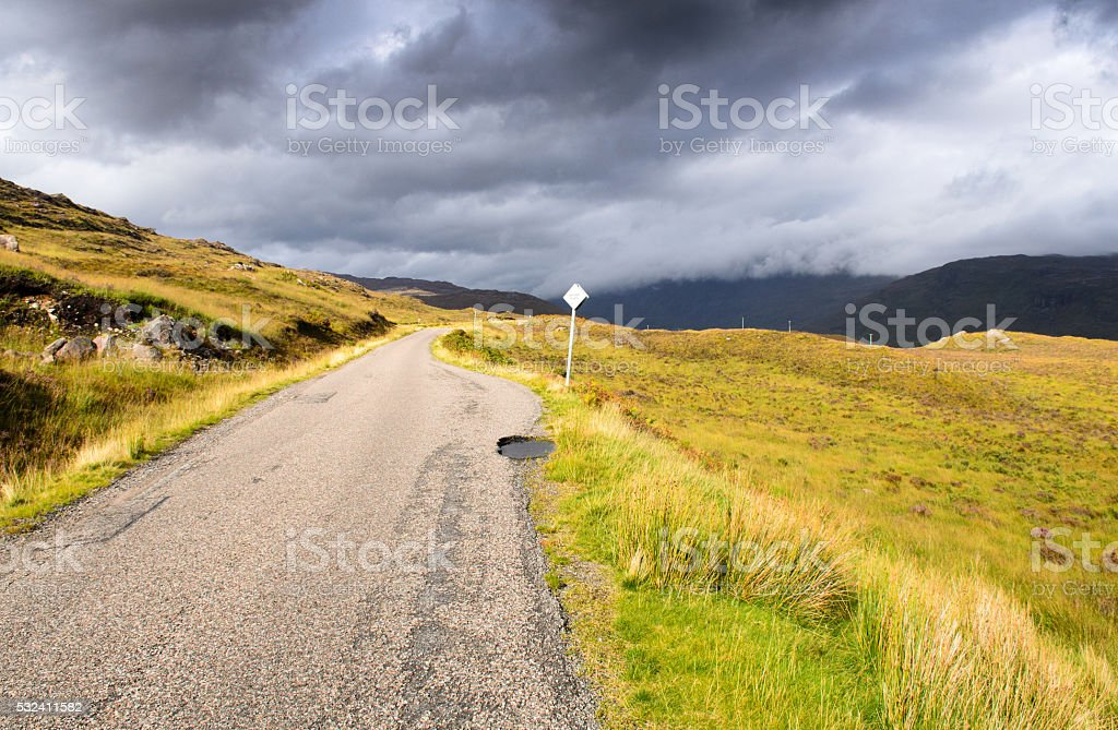 The road to Shieldaig stock photo