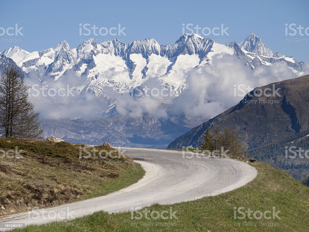 The Road To Switzerland stock photo
