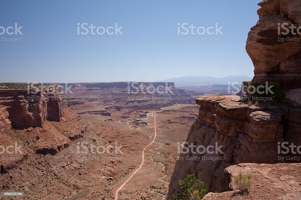 The road to the Canyonlands National Park, Moab, Utah, United States stock photo