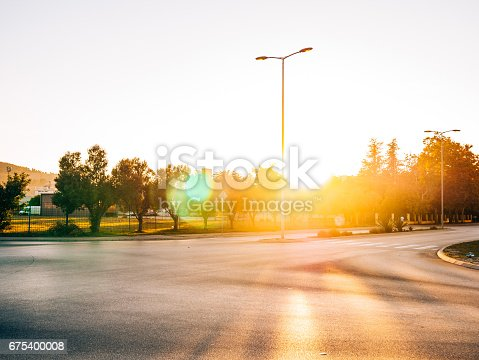 istock The road to the city of sun and glare 675400008