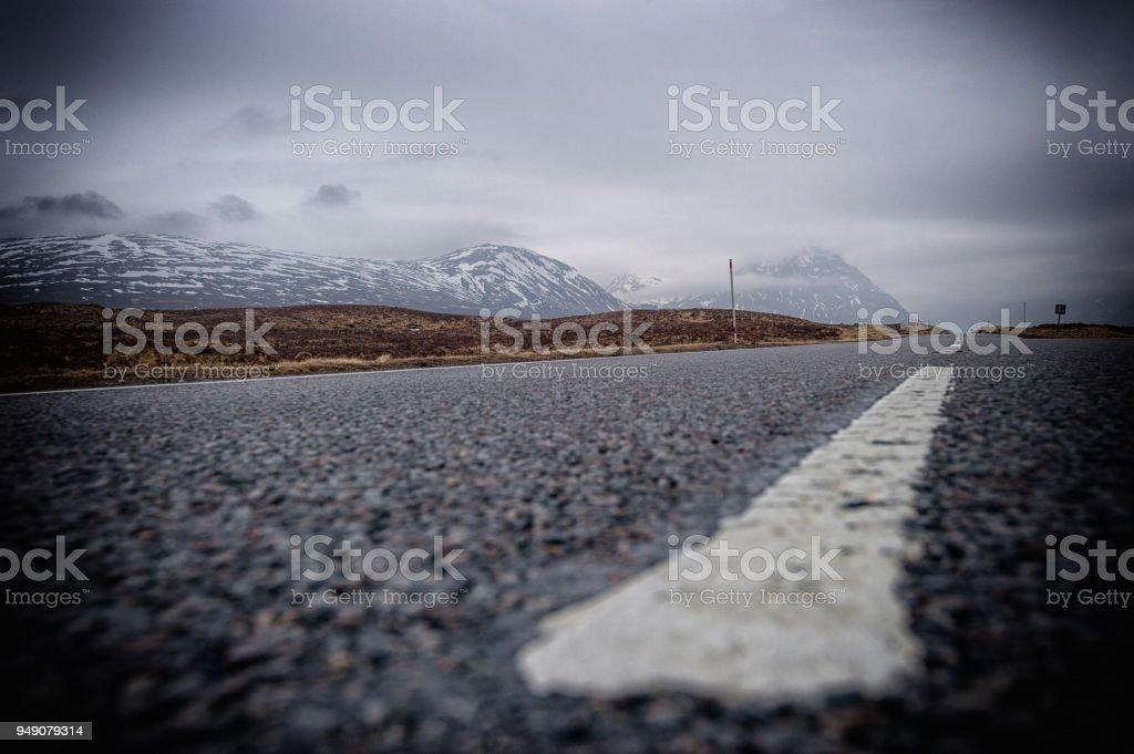 The Road too Glencoe Scotland National Park stock photo