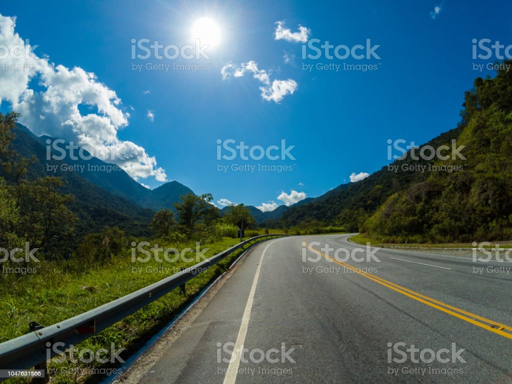 The road trip, journey stock photo