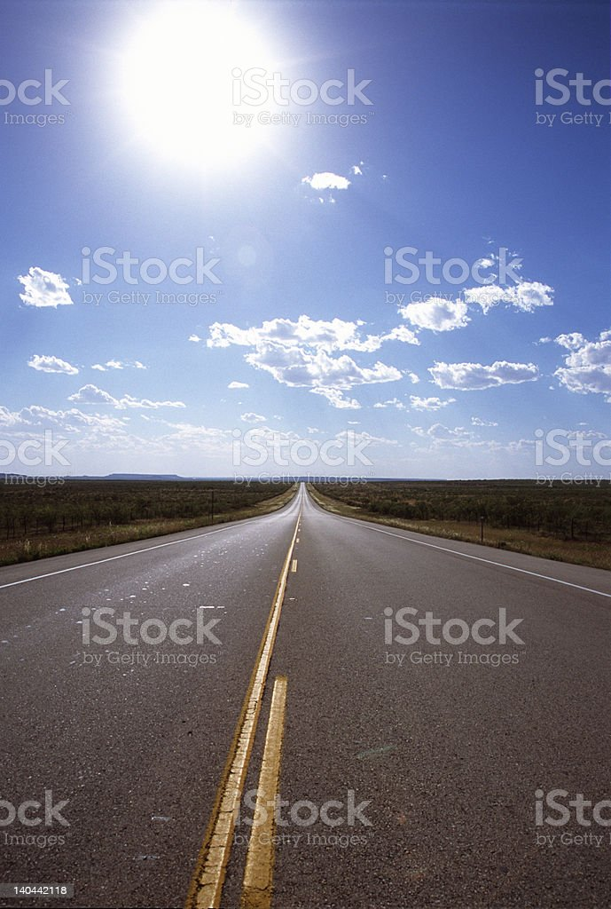 The road west, vertical stock photo