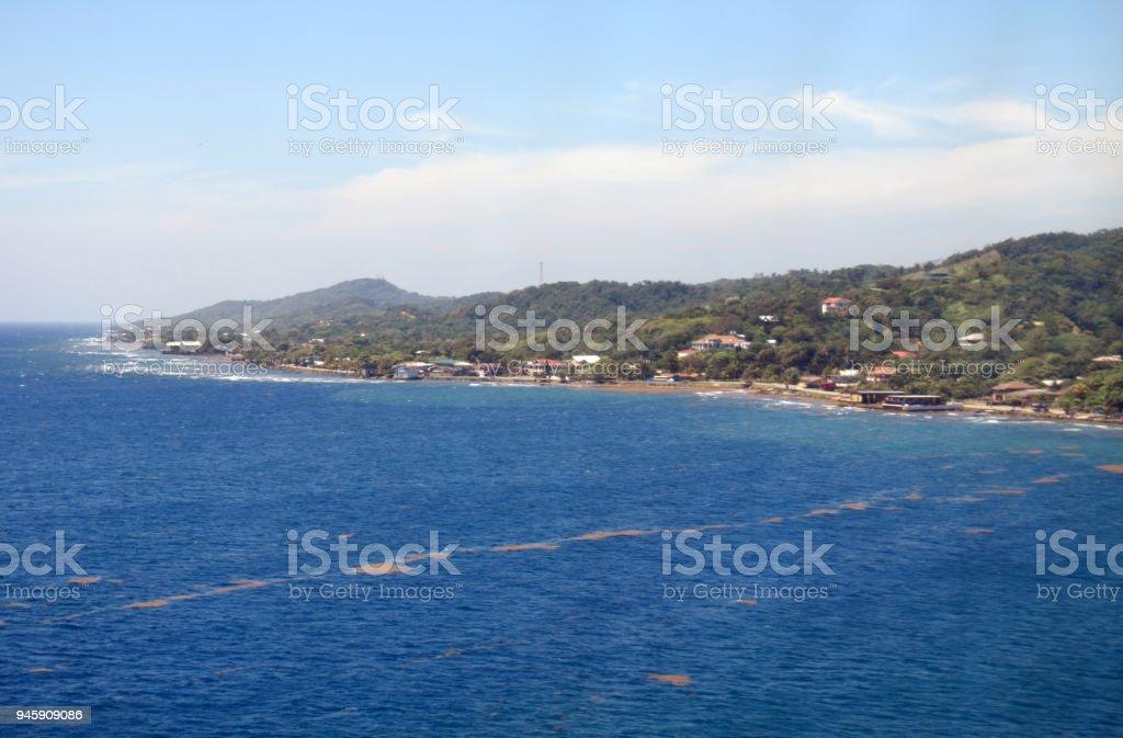 The Roatán Coastline stock photo