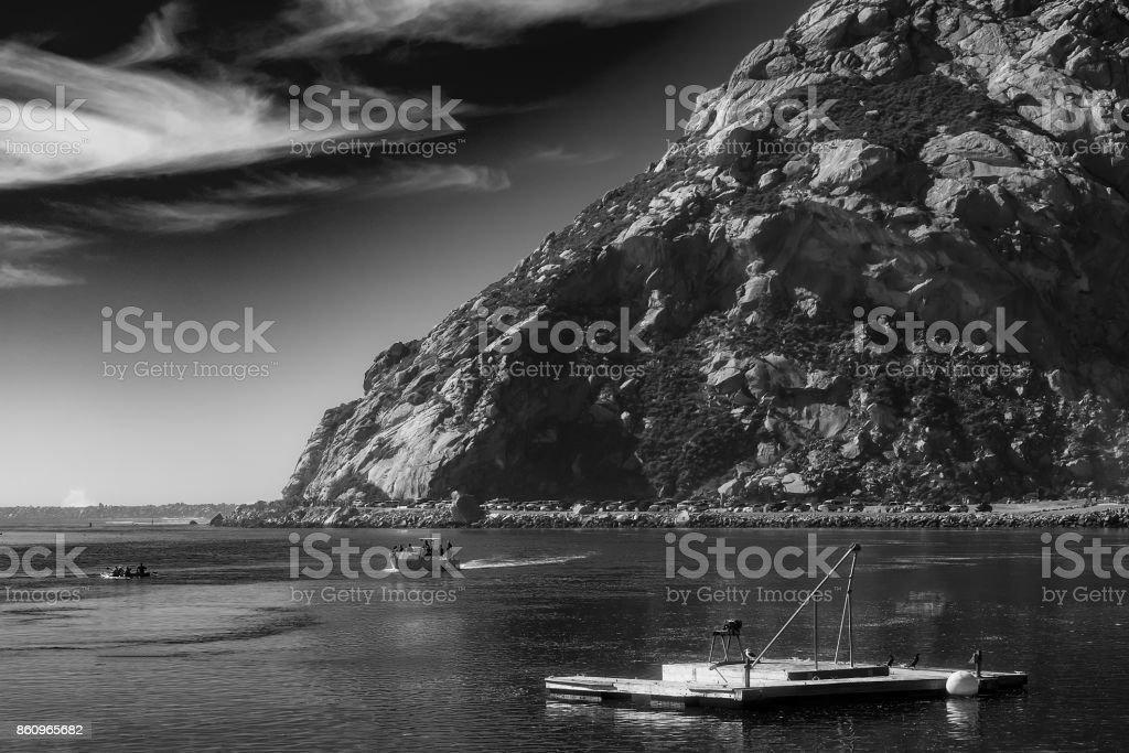 The Rock at Morro Bay stock photo