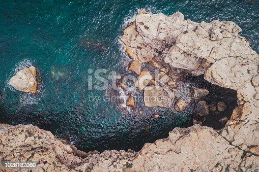 The rock formation Arch in the sea near Tyulenovo, Bulgaria, Europe
