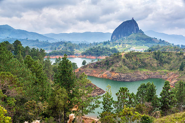 the rock - colombia stock photos and pictures
