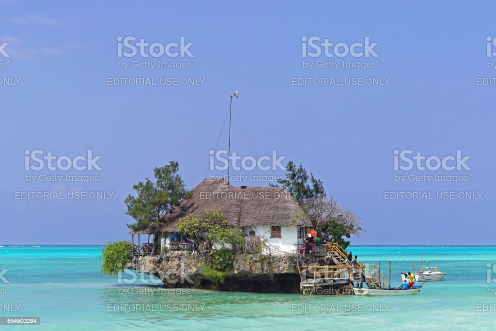 The Rock Zanzibar stock photo