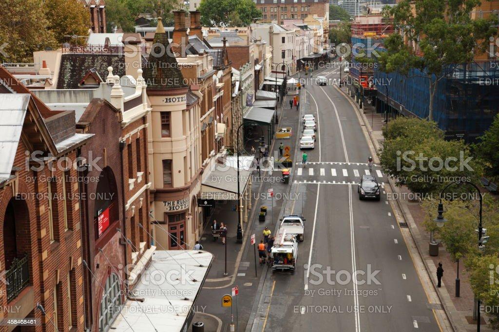The Rocks Area Sydney royalty-free stock photo