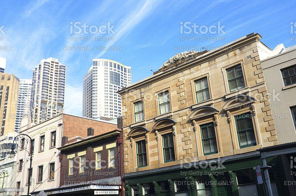 The Rocks In Sydney royalty-free stock photo