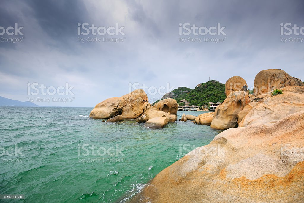 The rocks in the bay royalty-free stock photo