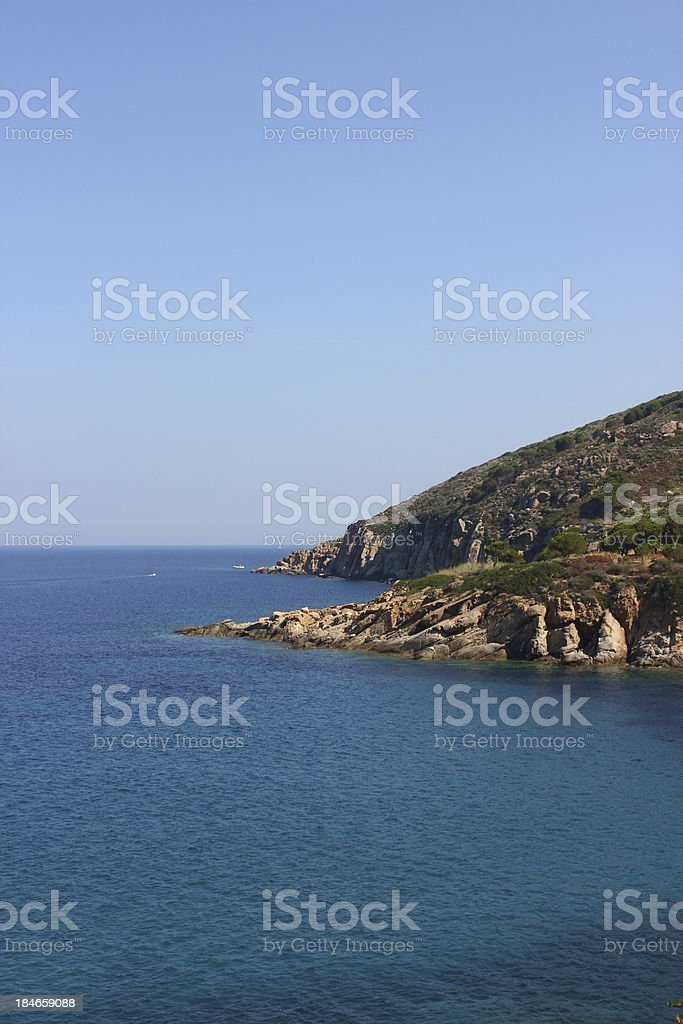 The Rocks of Giglio Island stock photo