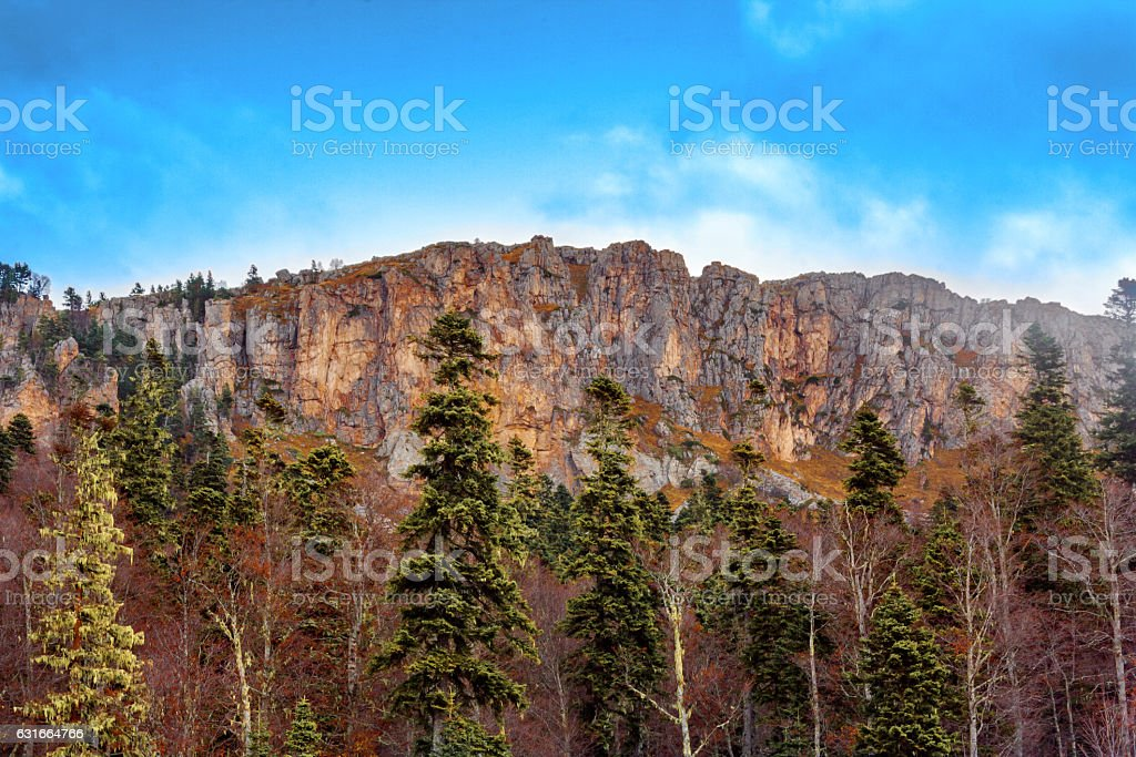 The rocks of the North Caucasus stock photo