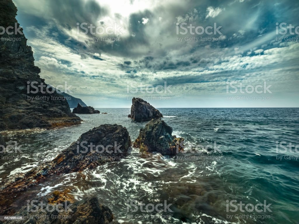 The rocky coast of the Cinque Terre. foto de stock royalty-free