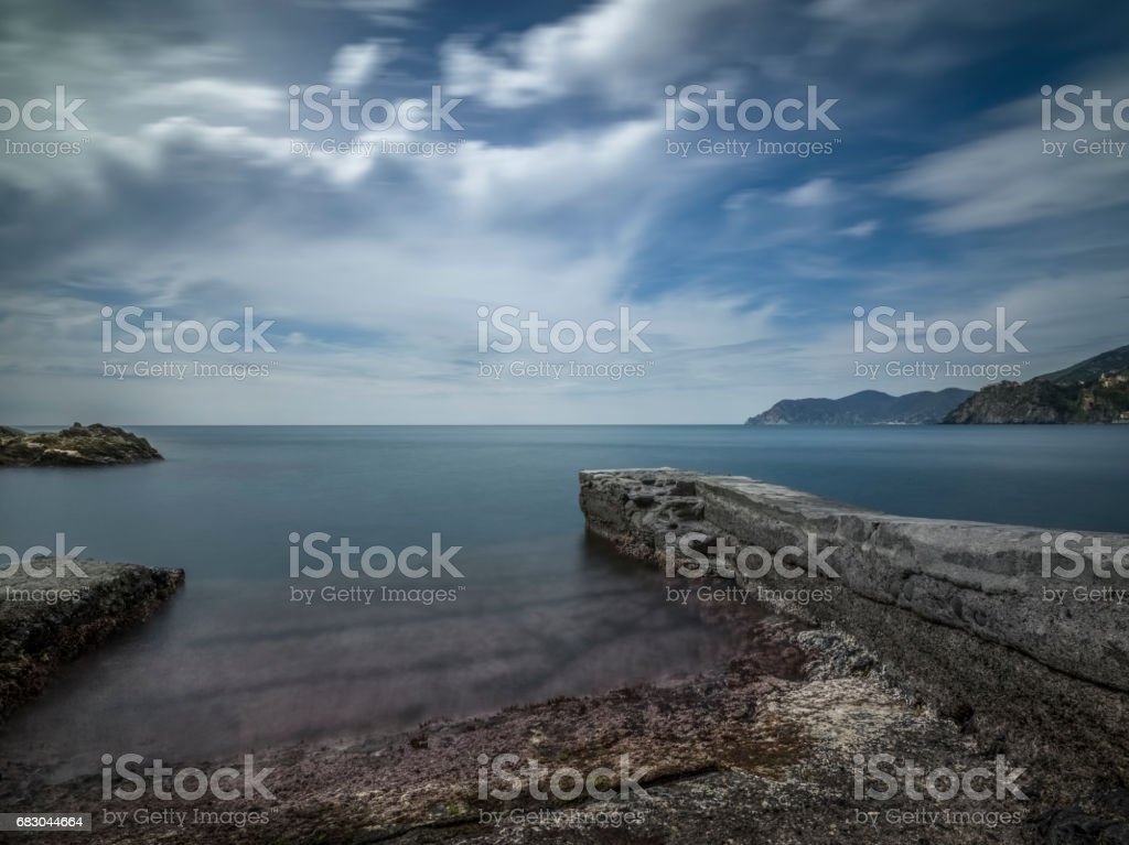 The rocky coast of the Cinque Terre. royalty-free stock photo