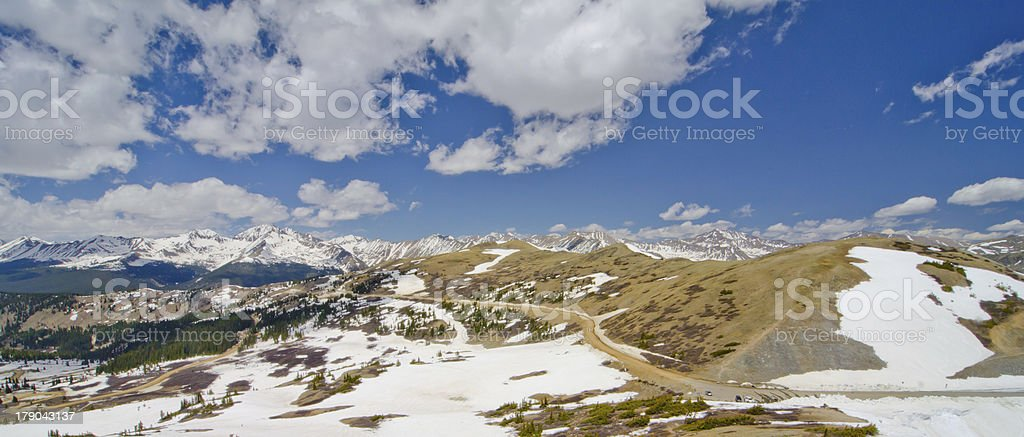 The Rocky Mountain in Colorado royalty-free stock photo