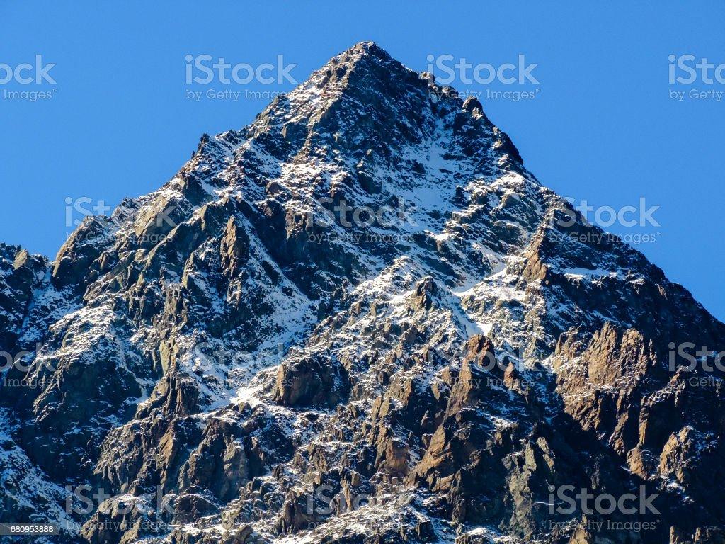 The rocky peak of Monviso Italy royalty-free stock photo