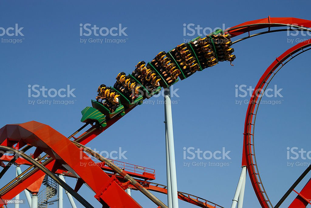 The rollercoaster royalty-free stock photo