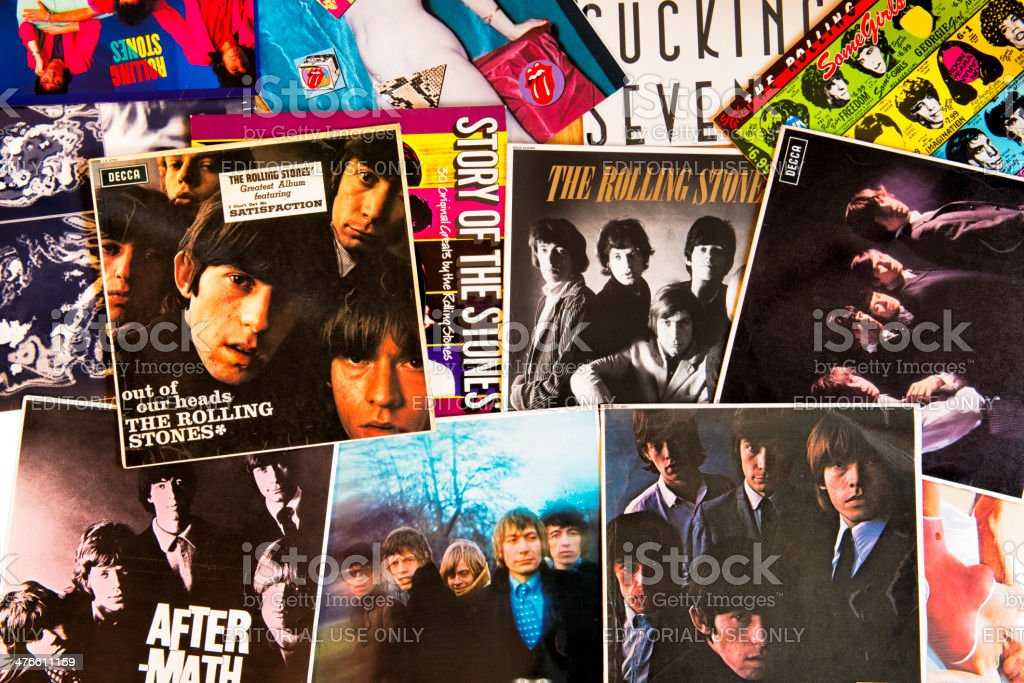 The Rolling Stones album covers stock photo
