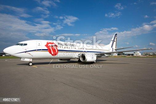 Aereo Privato Immagini : Rolling stones jet privato fotografie stock e altre