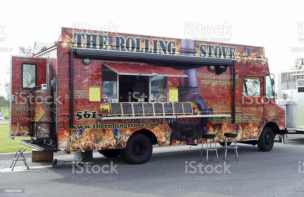 The Rolling Stove Food Truck royalty-free stock photo