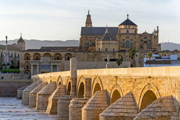 The Roman bridge of Córdoba stock photo