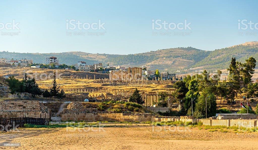 The Roman city of Gerasa - Jordan photo libre de droits