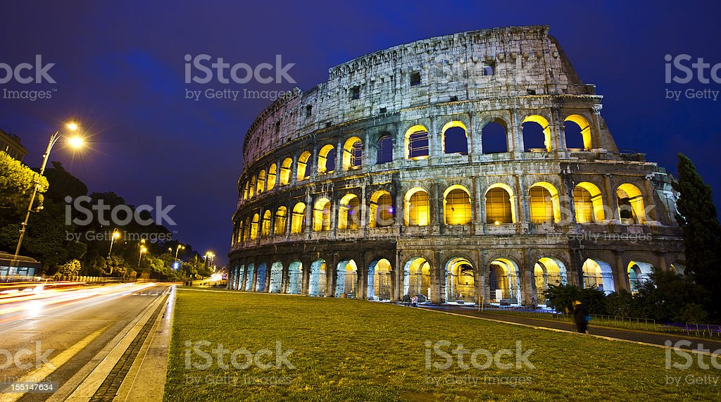 The Roman Coliseum In Italy royalty-free stock photo