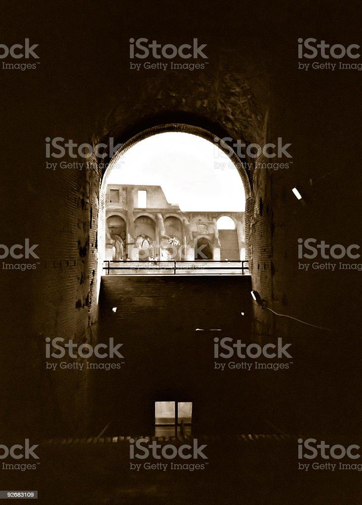 The Roman Colisseum royalty-free stock photo