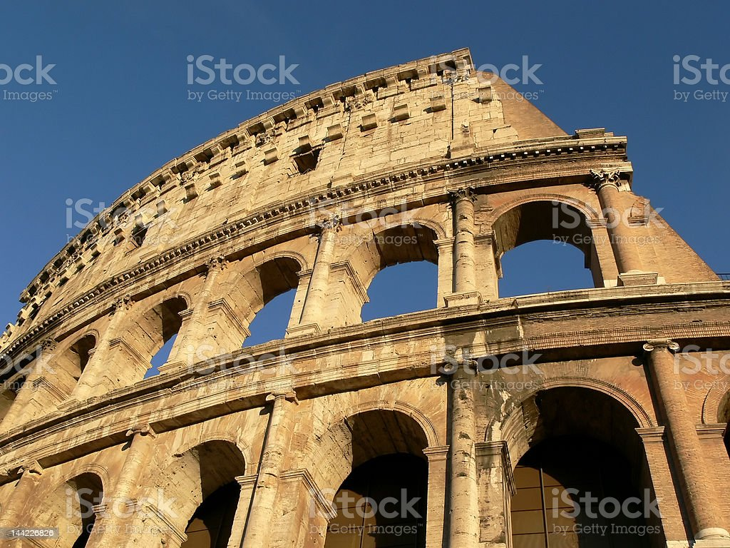 The Roman Colosseum royalty-free stock photo