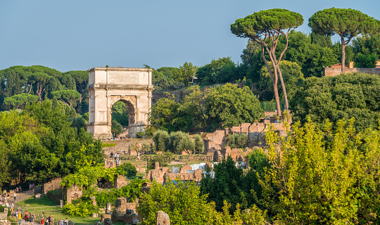 The Roman Forum in a sunny day. Rome, Italy.