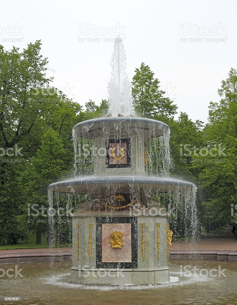 The Roman Fountain. Peterhof (Petrodvorets) royalty-free stock photo