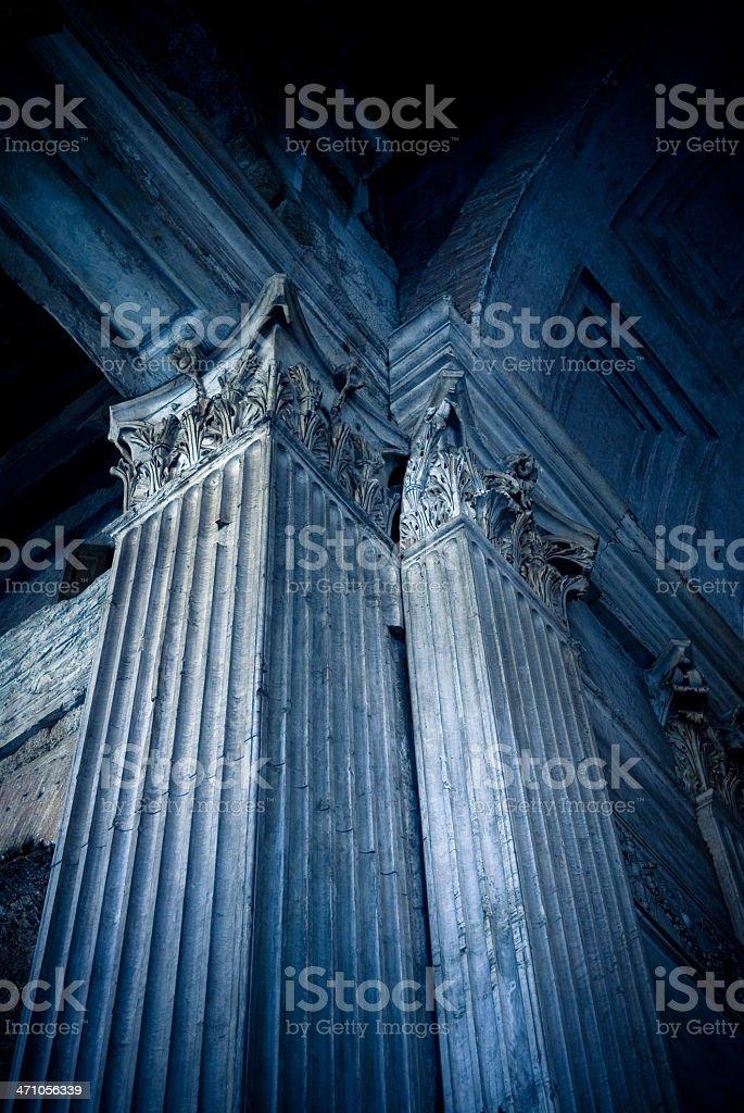 the roman pantheon royalty-free stock photo