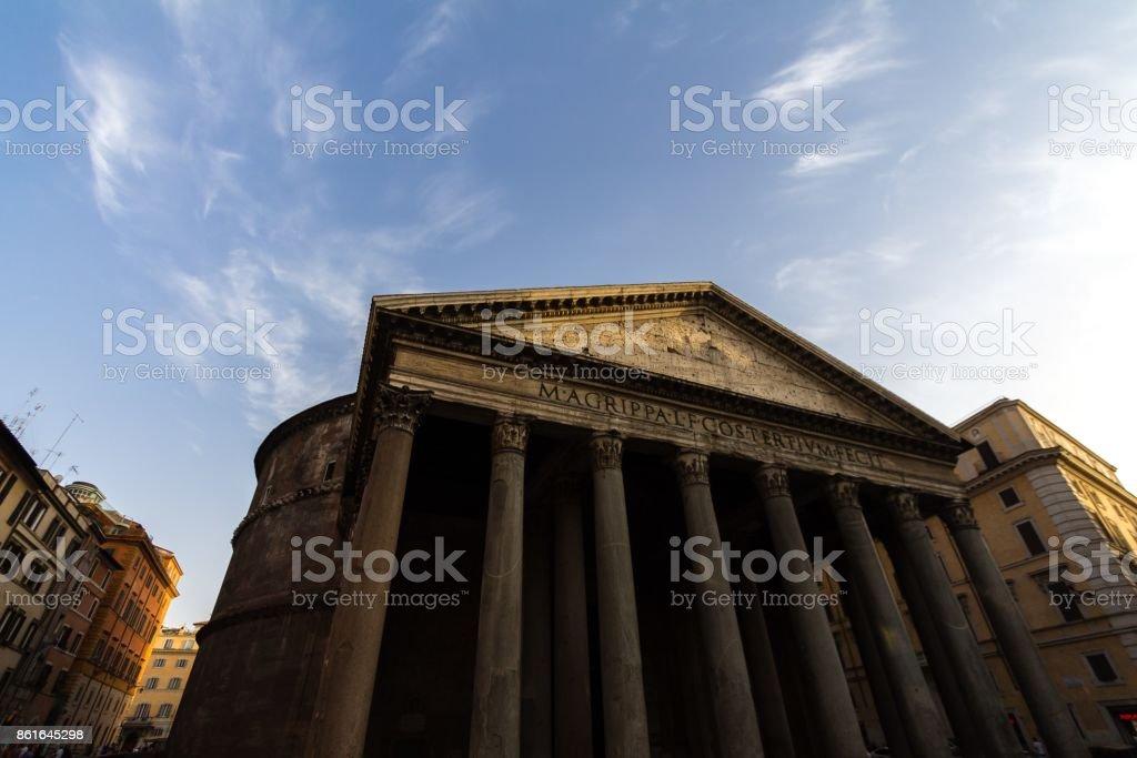 The Roman Pantheon stock photo
