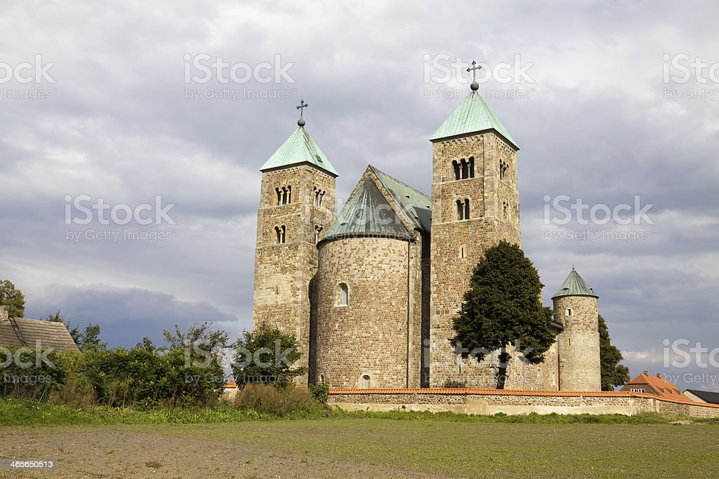 The Romanesque church in Tum, Poland royalty-free stock photo