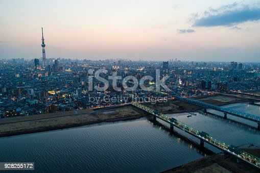 istock The romantic sky of Tokyo that I took with Drone. 928255172