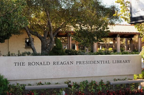The Ronald Reagan Presidential Library stock photo