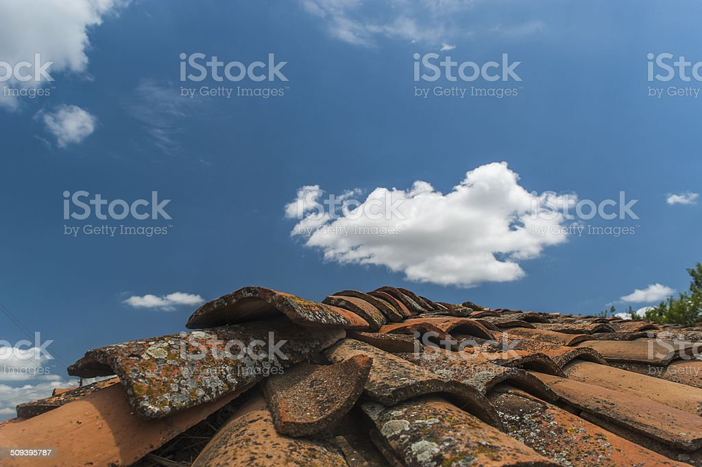 The roof stock photo