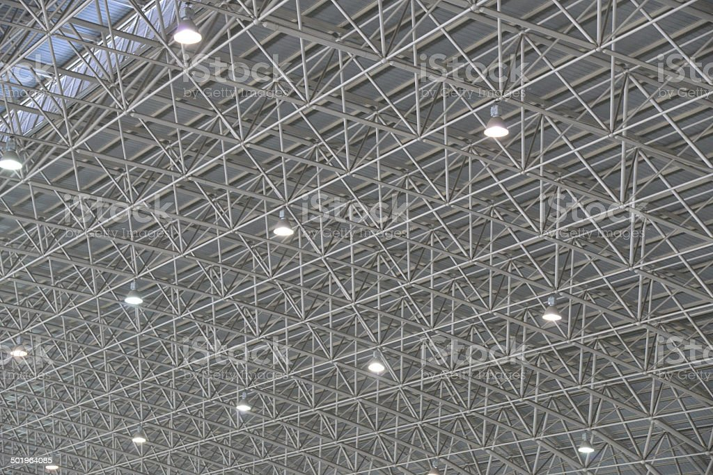 The roof structure of airport stock photo