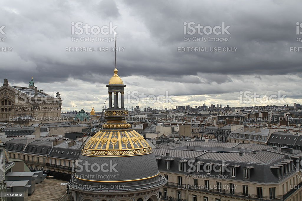 The roofs of Paris, Garnier Opera - Royalty-free Architectural Dome Stock Photo