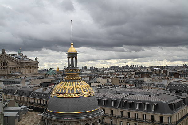 The roofs of Paris, Garnier Opera stock photo